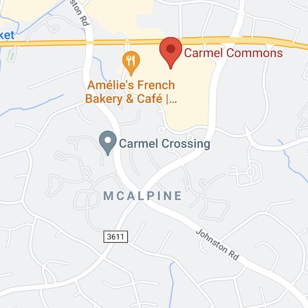 carmel commons and mcalpine neighborhoods in charlotte north carolina