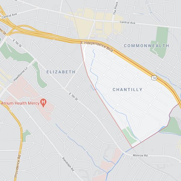 chantilly neighborhood in charlotte north carolina