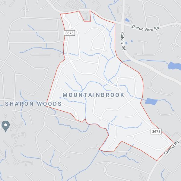 mountainbrook neighborhood in charlotte north carolina