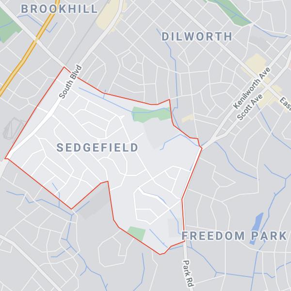 sedgefield neighborhood in charlotte north carolina